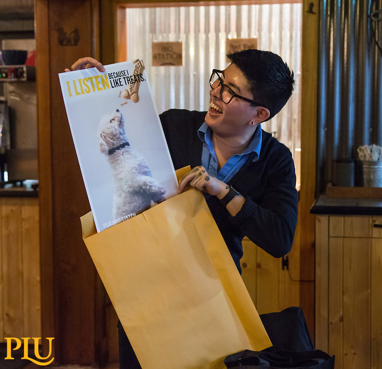 Asuka's going away PLU, Friday, March 3, 2017.  (Photo: John Froschauer/PLU)
