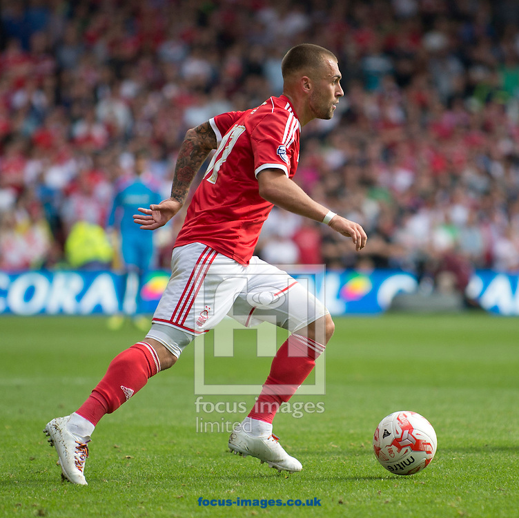 Jack Hunt of Nottingham Forest during the Sky Bet Championship match at the City Ground, Nottingham<br /> Picture by Russell Hart/Focus Images Ltd 07791 688 420<br /> 14/09/2014