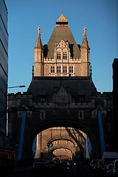 UK ENGLAND LONDON 2FEB14 - Tower Bridge, central London.<br /> <br /> <br /> <br /> jre/Photo by Jiri Rezac<br /> <br /> <br /> <br /> &copy; Jiri Rezac 2014