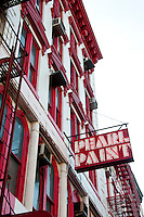 New York, New York City. Pear Paint building.