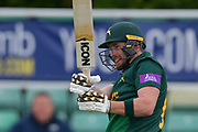 Riki Wessels pulls a four during the Royal London 1 Day Cup match between Worcestershire County Cricket Club and Nottinghamshire County Cricket Club at New Road, Worcester, United Kingdom on 27 April 2017. Photo by Simon Trafford.