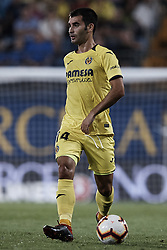 August 31, 2018 - Vila-Real, Castellon, Spain - Manu Trigueros of Villarreal CF with the ball during the La Liga match between Villarreal CF and Girona FC at Estadio de la Ceramica on August 31, 2018 in Vila-real, Spain  (Credit Image: © David Aliaga/NurPhoto/ZUMA Press)