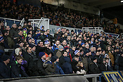 The Hartlepool fans look on with concern as the final few minutes of the game approach and they are still 2-1 down during the Sky Bet League 2 match between Hartlepool United and Stevenage at Victoria Park, Hartlepool, England on 9 February 2016. Photo by Mark P Doherty.