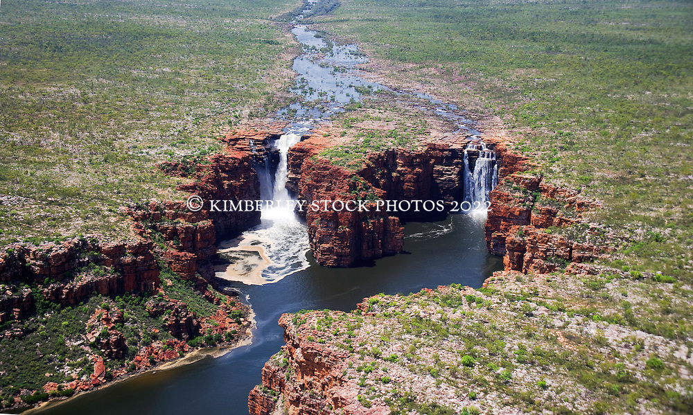 King George Falls, in the East Kimberley after good wet season rains.