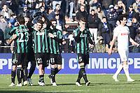 esultanza gol Domenico Berardi Sassuolo Goal celebration <br /> Reggio Emilia 01-02-2015 Mapei Stadium Football Calcio Serie A 2014/2015 Sassuolo - Inter foto Image Sport / Insidefoto