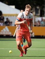 WAALWIJK -  RABO SUPER SERIE . Floris Wortelboer (Ned)    tijdens  de hockeyinterland heren  Nederland-India (3-4),  ter voorbereiding van het EK,  dat vrijdag 18/8 begint.  COPYRIGHT KOEN SUYK
