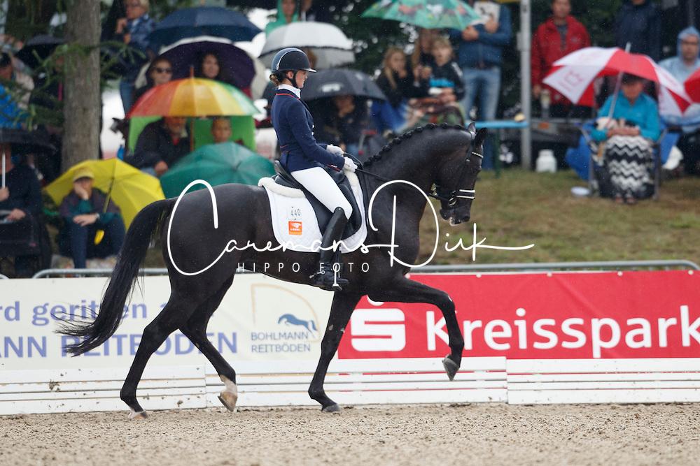 Van Der Putten Marieke, (NED), El Capone 5<br /> First Qualifier 6 years old horses<br /> World Championship Young Dressage Horses - Verden 2015<br /> © Hippo Foto - Dirk Caremans<br /> 07/08/15
