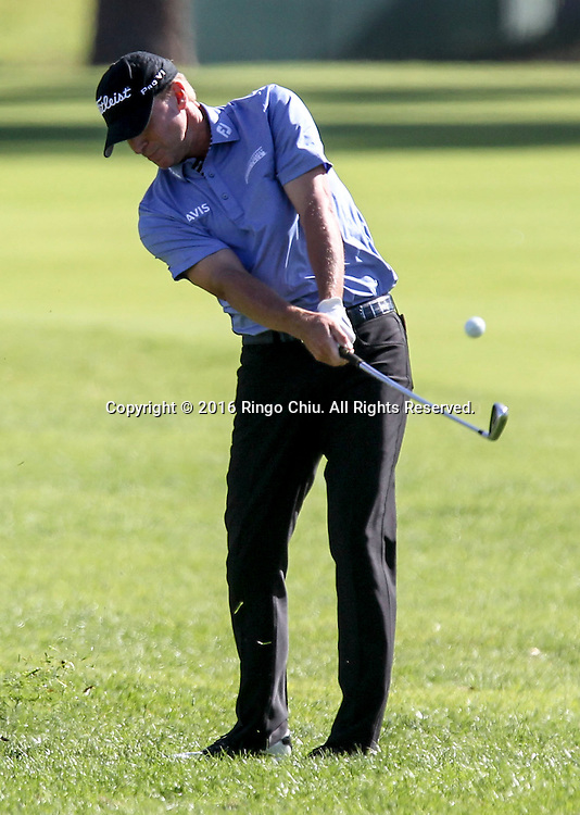 Steve Stricker plays in the Final Round of the Northern Trust Open at the Riviera Country Club on February 21, 2016, in Los Angeles,(Photo by Ringo Chiu/PHOTOFORMULA.com)<br /> <br /> Usage Notes: This content is intended for editorial use only. For other uses, additional clearances may be required.