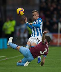 Florent Hadergjonaj of Huddersfield Town and Aaron Cresswell of West Ham United (R) in action - Mandatory by-line: Jack Phillips/JMP - 10/11/2018 - FOOTBALL - The John Smith's Stadium - Huddersfield, England - Huddersfield Town v West Ham United - English Premier League