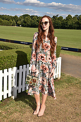 Olivia Grant at the Laureus polo Cup at Ham Polo Club, Ham, London, England. 21 June 2018.