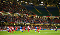 CARDIFF, WALES - Friday, September 5, 2008: Wales' take on Azerbaijan during the opening 2010 FIFA World Cup South Africa Qualifying Group 4 match at the Millennium Stadium. (Photo by David Rawcliffe/Propaganda)