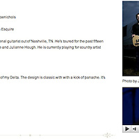 Justin Weaver photo on Flatline Guitars website.