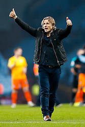 Wycombe Wanderers Manager Gareth Ainsworth thanks his fans after a 2-0 loss - Mandatory byline: Rogan Thomson/JMP - 19/01/2016 - FOOTBALL - Villa Park Stadium - Birmingham, England - Aston Villa v Wycombe Wanderers - FA Cup Third Round Replay.