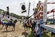 Minami-Soma, Fukushima prefecture, July 25 2015 - Kazuhiko ITO after the Sunday race of Nomaoi, a festival of samurai riding horses.<br /> The Soma nomaoi is said to be a 1000-year-old traditional festival. It was held in 2011, a few months after the nuclear disaster, but only a few local horses were available.