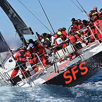 SFS II EST REPARTI EN FIN DE MATINEE POUR UNE SECONDE TENTATIVE SUR LE PARCOURS DE LA SUNLIGHT ISLANDS CUP PRESQUE DANS LES MEMES CONDITIONS QU HIER . <br /> LE DERNIER CHRONO EST DE 1 H 40 MN 53 S <br /> LIONEL PEAN ET TOUT L EQUIPAGE RETENTERONS DE BATTRE LEURS PROPRE RECORD ETABLI EN JUIN 2016 LORS DE L OUVERTURE DE LA CLASSE 70 ' - 75 PIEDS <br /> 1 H 37 ... RECORD A BATTRE ...