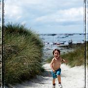 Enfant sur l'île de Batz