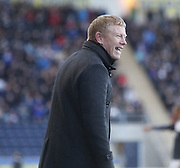 Falkirk boss Gary Holt enjoys his side going top of the table - Falkirk v Dundee, SPFL Championship at <br /> Falkirk Stadium<br />  - &copy; David Young - www.davidyoungphoto.co.uk - email: davidyoungphoto@gmail.com