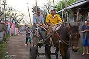 A horse and cart in Ilha dos Marinheiro community in Brazil.
