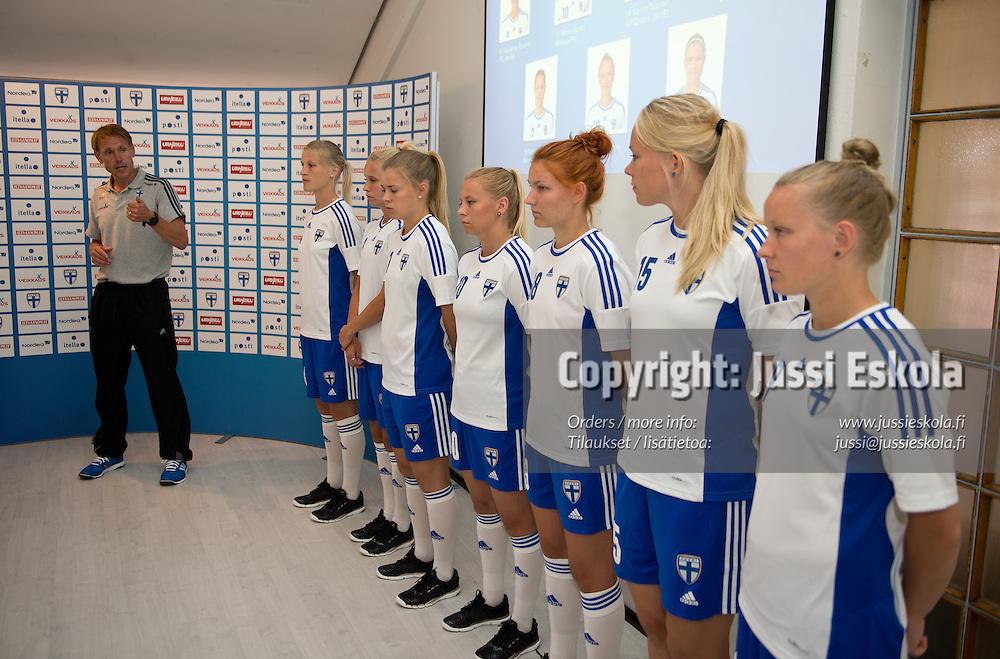 Andree Jeglertz. EM-joukkue julkistetaan. Naisten maajoukkue. Helsinki 28.6.2013. Photo: Jussi Eskola
