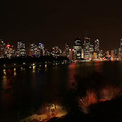 Brisbane Night Skyline, taken from kangaroo Point