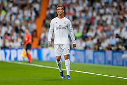 Cristiano Ronaldo of Real Madrid looks frustrated - Mandatory byline: Rogan Thomson/JMP - 04/05/2016 - FOOTBALL - Santiago Bernabeu Stadium - Madrid, Spain - Real Madrid v Manchester City - UEFA Champions League Semi Finals: Second Leg.