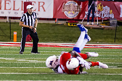 NORMAL, IL - September 07: Matt Packowski during a college football game between the ISU (Illinois State University) Redbirds and the Morehead State Eagles on September 07 2019 at Hancock Stadium in Normal, IL. (Photo by Alan Look)