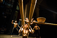 Performers in the AO Circus practice their act before a show at the Opera House in downtown Ho Chi Minh City, Vietnam.
