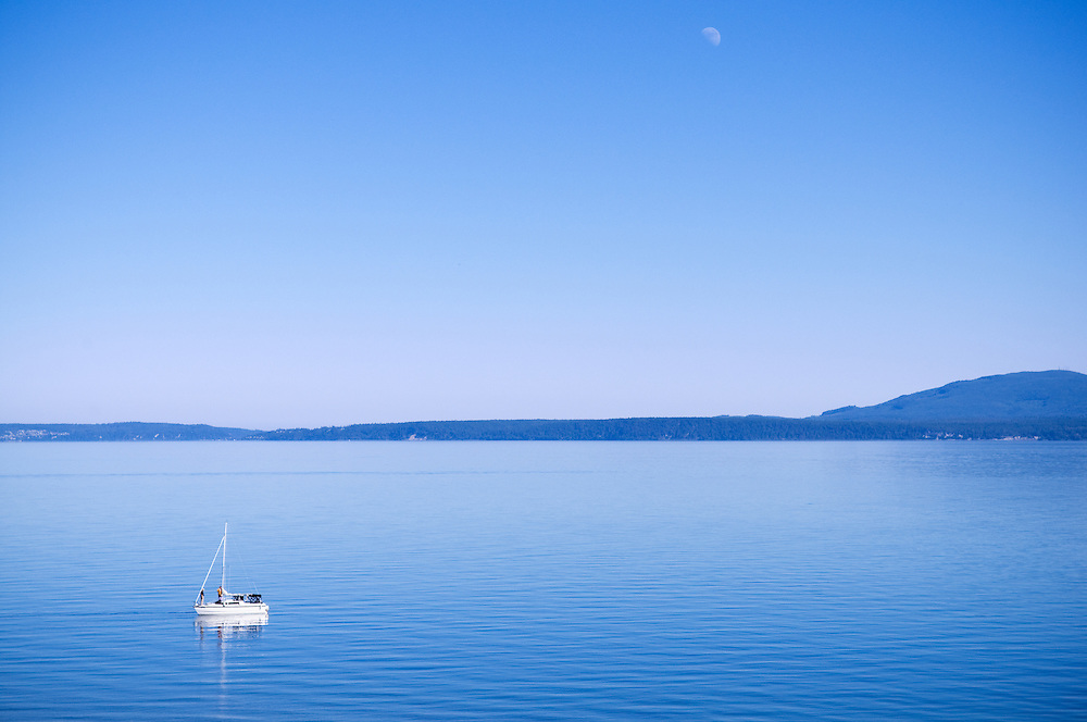 Calm water in Dungeness Bay, Washington