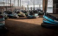 Bumper Cars,Fairground Ride, Portsmouth, Hampshire, Britain - Oct 2016
