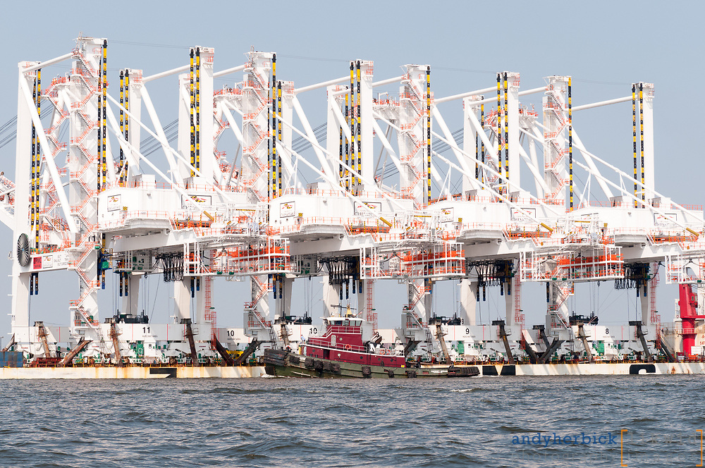 JUNE 20, 2012 - Baltimore, MD, USA - Delivery of four Super Post-Panamax cranes in to Baltimore Harbor. - IMAGE © Andy Herbick 2012 | www.andyherbickphotography.com - ALL RIGHTS RESERVED.