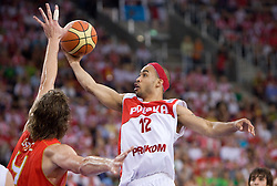 David Logan of Poland during the EuroBasket 2009 Group F match between Poland and Spain, on September 16, 2009 in Arena Lodz, Hala Sportowa, Lodz, Poland.  (Photo by Vid Ponikvar / Sportida)