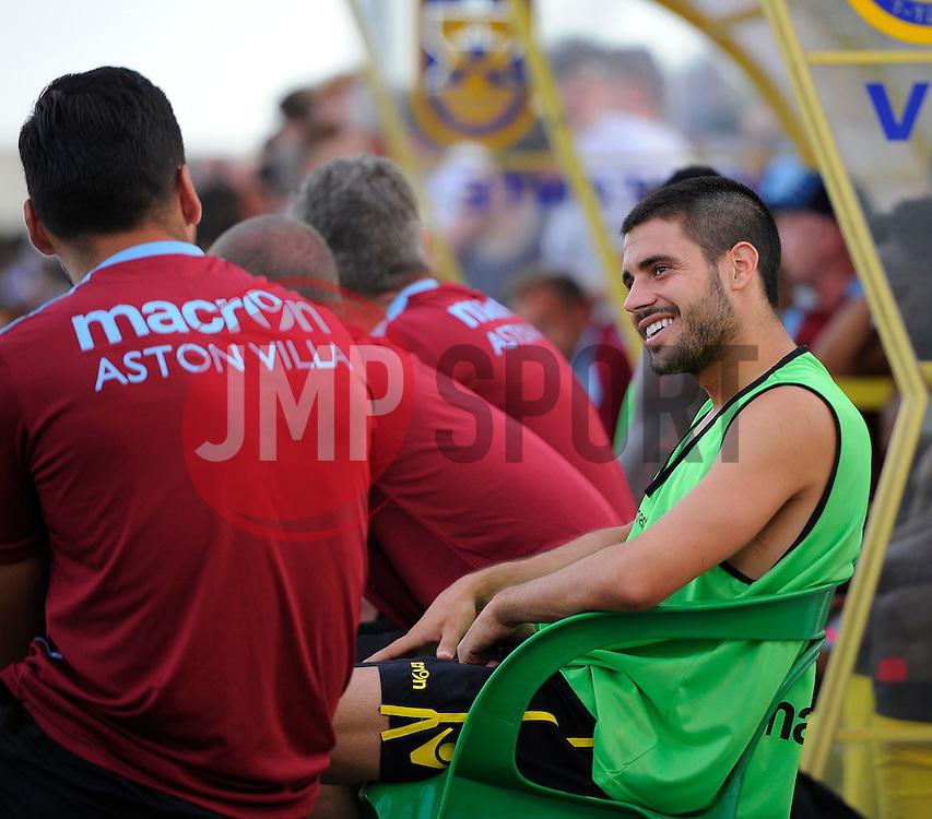 Aston Villa's Carles Gil  - Photo mandatory by-line: Joe Meredith/JMP - Mobile: 07966 386802 - 17/07/2015 - SPORT - Football - Albufeira - Estadio Da Nora - Pre-Season Friendly