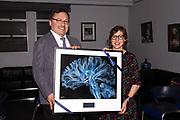 Miguel Garcia-Garibay and Award recipient Mayim Bialik