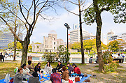 Japan, Honshu, Hiroshima, Peace Memorial Park for atomic bomb of 6 august 1945