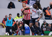 Football - 2016 / 2017 Premier League - Tottenham Hotspur vs. Southampton<br /> <br /> Nathan Redmond of Southampton and Victor Wanyama of Tottenham battle for the ball at White Hart Lane.<br /> <br /> COLORSPORT/DANIEL BEARHAM