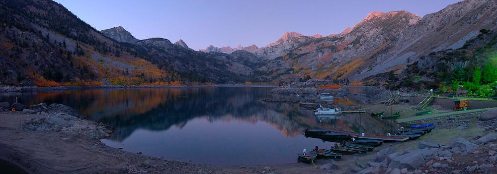 Lake Sabrina Panoramic Photo, Inyo National Forest, California