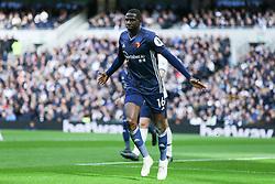Abdoulaye Doucoure of Watford celebrates scoring to make it 0-1 - Mandatory by-line: Arron Gent/JMP - 19/10/2019 - FOOTBALL - Tottenham Hotspur Stadium - London, England - Tottenham Hotspur v Watford - Premier League