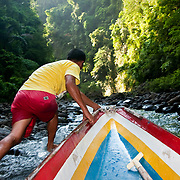 PAGSANJAN (Philippines). 2009.  Rapids of Pagsanjan River. Pagsanjan River is one of Luzon´s major tourist attractions. Some of the final scenes of Apocalypse Now were filmed along this stretch of river.