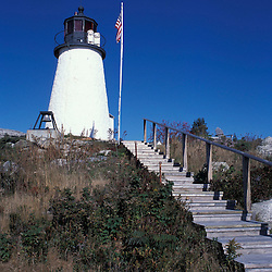 Burnt Island, ME.... The lighthouse on Burnt Island.  Fall.  Boothbay Harbor