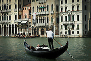 Gondolier in Venice Italy