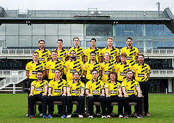 Gloucestershire CCC pose for a team picture in their NatWest T20 Blast kit - Mandatory by-line: Robbie Stephenson/JMP - 04/04/2016 - CRICKET - Bristol County Ground - Bristol, United Kingdom - Gloucestershire  - Gloucestershire Media Day