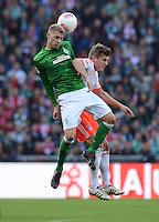 FUSSBALL   1. BUNDESLIGA  SAISON 2012/2013   6. Spieltag  29.09.2012 SV Werder Bremen - FC Bayern Muenchen    Aaron Hunt (li, SV Werder Bremen) gegen Toni Kroos (FC Bayern Muenchen)
