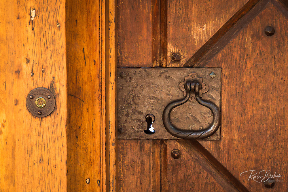 Door detail at Vikingsholm castle, Emerald Bay State Park, Lake Tahoe, California USA