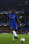 Antonio Rudiger of Chelsea in action.<br /> EFL Carabao Cup 4th round match, Chelsea v Everton at Stamford Bridge in London on Wednesday 25th October 2017.<br /> pic by Kieran Clarke, Andrew Orchard sports photography.