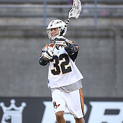 Jordan Wolf #32 of the Rochester Rattlers passes the ball during the game at Harvard Stadium on August 9, 2014 in Boston, Massachusetts. (Photo by Elan Kawesch)