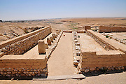 Israel, Negev, Tel Be'er Sheva believed to be the remains of the biblical town of Be'er Sheva. Grain storeroom