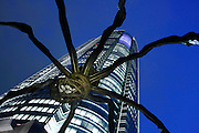 April 9, 2008; Tokyo, Japan - Spider sculpture and Mori Tower at Roppongi Hills...Photo credit: Darrell Miho