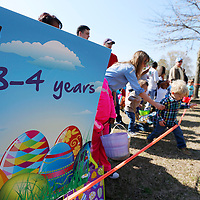 Thomas Wells | BUY at PHOTOS.DJOURNAL.COM<br /> Children surround the three and four year old division as they wait for the horn to sound to begin the annual Easter Egg Hunt at Ballard Park.