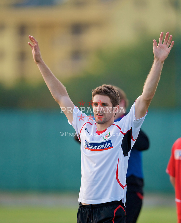 PODGORICA, MONTENEGRO - Monday, August 10, 2009: Wales' Sam Ricketts during a training session ahead of the international friendly match against Montenegro. (Photo by David Rawcliffe/Propaganda)
