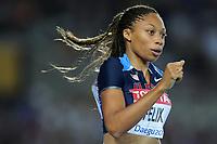 ATHLETICS - IAAF WORLD CHAMPIONSHIPS 2011 - DAEGU (KOR) - DAY 1 - 27/08/2011 - WOMEN 400M - ALLYSON FELIX (USA) - PHOTO : FRANCK FAUGERE / KMSP / DPPI
